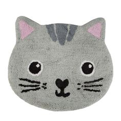 We adore this Kawaii Cat rug from Sass & Belle. The perfect addition to your little ones room or a lovely gift for those cat lovers out there. Dimensions - 29 x 60 cm Material - Cotton Colour - Grey Cat Lover Gifts, Cat Gifts, Cat Lovers, Cat Bedroom, Kids Bedroom, Childrens Animal Bedrooms, Overbeck And Friends, Cat Kawaii, Cat Rug