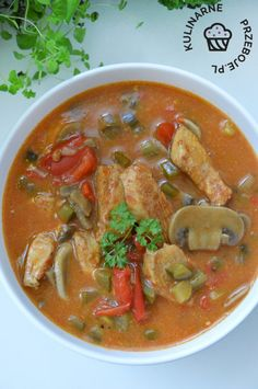Soup Recipes, Cooking Recipes, Healthy Recipes, Polish Recipes, Polish Food, Good Food, Yummy Food, Sandwiches, Soups And Stews