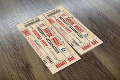 Vintage Movie Ticket by Angela Pranarova on @creativemarket