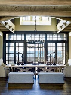 Light and Neutral Decorating for your Dining Room - Light and Neutral Design - Coastal Living Mobile Coastal Homes, Coastal Living, Coastal Style, Coastal Decor, Florida Home Decorating, Veranda Interiors, Booth, Dining Area, Dining Table