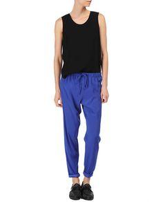 rag & bone Official Store, Easier Pant , royal blue fl, Womens : Ready to Wear : Pants, W2357137P