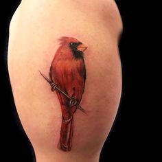 Small Cardinal Tattoo, Cardinal Bird Tattoos, Red Bird Tattoos, Skull Tattoos, Tatoos, Bright Tattoos, Dainty Tattoos, Sweet Tattoos, Cardnial Tattoo
