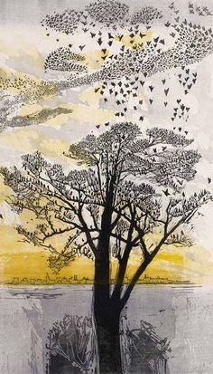 'Starlings' by Gertrude Hermes, 1965 | via Armchair Oxford Scholar