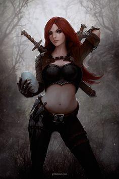 Katarina, the Sinister Blade by dr-grizscald.deviantart.com on @DeviantArt