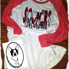 Sooner Fans...  This one is for YOU! Grab one on our website! #mackieshae #custom