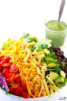 Skinny Taco Salad Recipe | gimmesomeoven.com