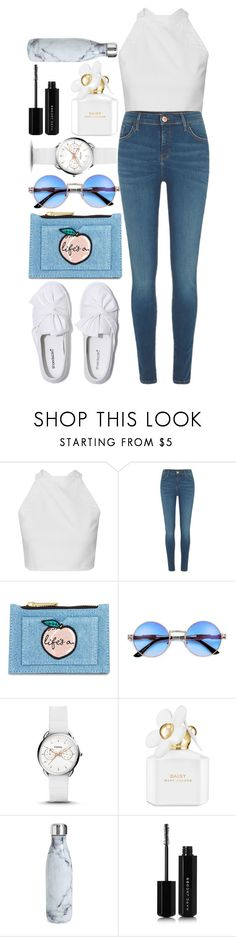 """""""My style"""" by avramraisa ❤ liked on Polyvore featuring River Island, Skinnydip, FOSSIL, Marc Jacobs, S'well and yourstyle"""