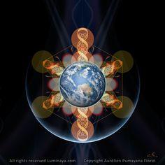 Galactivation origine Mandala spirituel psychédélique par Pumayana