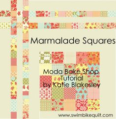 Marmalade Squares (two!) on the Moda Bake Shop by SwimBikeQuilt