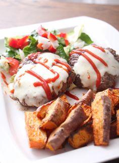 Tacoburgere med søtpotetstaver