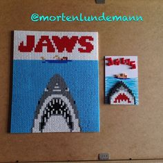 Jaws hama beads by mortenlundemann