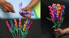 Cómo se hace el papel jacinto flores – Blog de diy y hazlo tu mismo Spring, Blog, Diy, Jewelry, Ideas, Large Paper Flowers, Manualidades, Drawings, Art