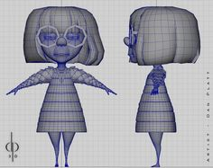 Chosen for similar art style and wireframe understanding of the face. Character Model Sheet, Character Modeling, 3d Character, Character Concept, Low Poly, Character Design Cartoon, Character Design References, Wireframe, Mode 3d