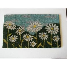 Daisy Doormat by Geo Crafts, Inc. $16.99. Rectangle. Natural Coir And Pvc. 100% Natural Coir With Pvc Backing. Machine Tufted. Elegant Looking And Functional. G109 Features: -Technique: Tufted.-Material: Natural coir.-Origin: India.-Elegent looking and functional.-PVC backing. Construction: -Construction: Machine made. Dimensions: -Pile height: 0.9''. Collection: -Collection: Door Mats.