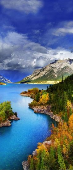 Abraham Lake, Alberta, Canada : #canada #travel #tour #destination #place #vacation #holiday #beautiful