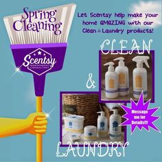 Scentsy Cleaning products will leave your house smelling amazing ! #Scentsy www.jennsander.scentsy.us
