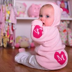 Personalized Hooded Sweater with Hearts   Personalized Sweaters   Oh Baby Style