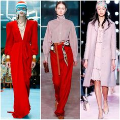 Colors Trend for FW 2018: Pink, Red and Their Mix. Gucci, Toga, Bluemarine Fall Winter 2018.