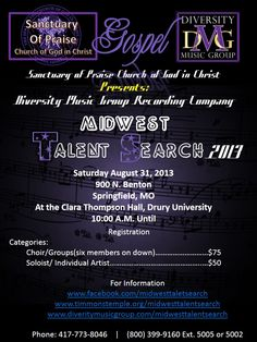 Diversity Music Group LLC | Diversity Music Group LLC | MID-WEST TALENT SEARCH 2013