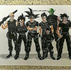 the expendables dragon ball z Fanarts Anime, Anime Characters, Dragon Ball Z, Manga Dragon, Dope Cartoon Art, Anime Crossover, Fan Art, Illustrations, Character Design
