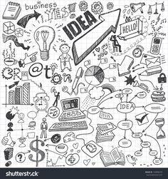 Business Doodles Stock-Vektorgrafik - Illustration 145898270 : Shutterstock