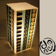 35mm Film Lampshade - Very Cool! http://www.greendeals.org/35mm-movie-film-lamp-shade-deja-bag