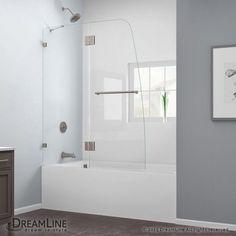 Dreamline Aqua Lux 48 In X 58 Frameless Hinged Tub Door The Home Depot