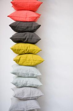 Linen pillows from Merci