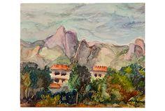 Watercolor, Mountain Landscape on OneKingsLane.com