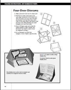 Blackboard and Beyond: Diorama Foldable