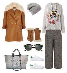 """""""NYFW STREET STYLE"""" by valelondon ❤ liked on Polyvore featuring Pink Tartan, adidas Originals, Gucci, River Island, Chanel, Rebecca Minkoff, Ray-Ban and UGG"""