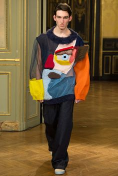 Walter Van Beirendonck Fall 2015 Menswear - Collection - Gallery - Style.com. You know what I've always wanted to look like when I get dressed in the morning? A melted muppet. Oh look, wish granted! Thank you, blind-fashion-designer-on-LSD. Thank you.