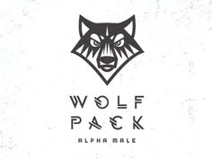 Dribbble - Wolf Pack Alpha Male by Mike Bruner