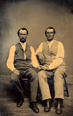 Two Men American Gothic by BuddyBoyCards on Etsy, $2.50