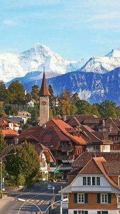In peaceful Interlaken, Switzerland.