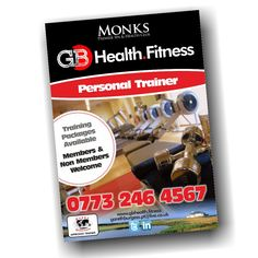 More flyers designed and ready to be printed, and this time they're for Gareth Burgess, the personal trainer based at Monk's Spa in Machynys GC. Not only is he a great trainer he's also a really really nice guy to talk to. Highly recommended :) #Design #Flyers #Personal #Trainer #Fitness #Health #Exercise #Gym #Workout #Machynys #Spa #Llanelli   http://gbhealth.fitness/   www.awgraphics.co.uk/awgraphics/gareth-burgess-flyers