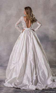 anna georgina 2019 couture long sleeves bateau heavily embellished bodice elegant princess ball gown a line wedding dress with pockets backless v back chapel train bv — Anna Georgina 2019 Couture Wedding Dresses Sheer Wedding Dress, Wedding Dress With Pockets, Couture Wedding Gowns, Dress Pockets, Burgundy Bridesmaid Dresses, Princess Ball Gowns, Bridal And Formal, Bridal Collection, Bridal Dresses