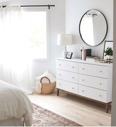 set up room just like this? turn bed back around - invest in decor shown?