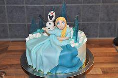 Hemmailua: Frozen Elsa kakku, sinisen jään ohje