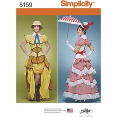 Simplicity Creative Patterns 8159 Misses' Cosplay Costumes with Corsets, R5 (14-16-18-20-22) *** You can get more details by clicking on the image.
