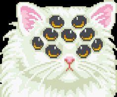 cat cat pixel pixel art cat eyes