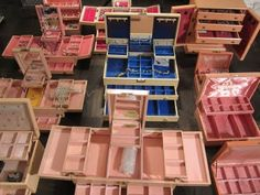 vimtage jewellery box pink