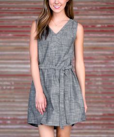 Look at this Sawyer Cove Gray Chambray Tie Dress - Women on #zulily today!