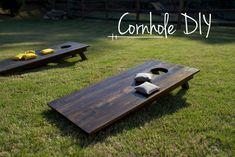 "Materials 32′ of 1×6 boards 24' of 2×3 studs 1.5"" screws (28 qty.) 2.5"" screws (16 qty.) #cornhole #games #lawn"