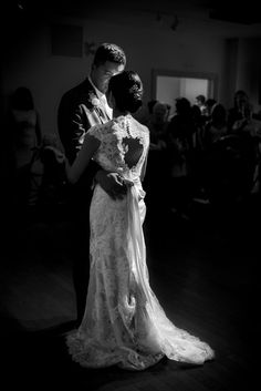 This bride & groom chose their first dance to have a unique couple photo in black & white - Wedding Couple Photos, Wedding Couples, Wedding Ideas, Bridal Gowns, Wedding Dresses, Bridesmaid Accessories, First Dance, Reception Decorations, Newlyweds
