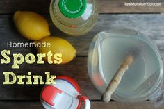 Homemade Sports Drink (Plus Book Giveaway!) - Real Mom Nutrition @RMNutrition