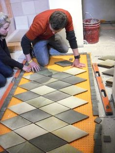 How to lay an inlaid tile rug                                                                                                                                                                                 More