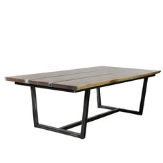 Live Edge Wood and Steel Table