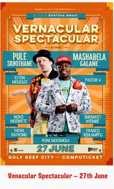 Vernacular Spectacular - 27th June 2015 www.conferencespeakers.co.za