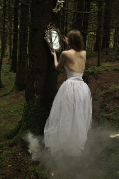 ". -I like the whole mirror thing because it makes you ask yourself, ""Why would she bring a mirror into the forest with her? What is it about that mirror?"""